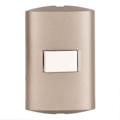 Interruptor Simple 1P Plomo
