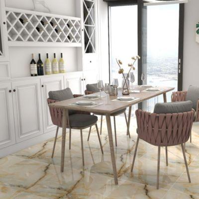 Porcelanato Beige Marmolizado 60x60 cm para piso o pared