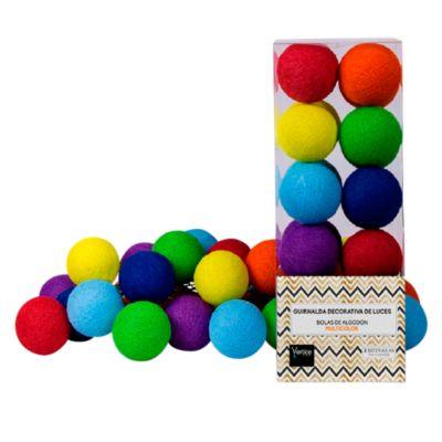 Guirnalda Bola Algodón Multicolor