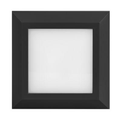 Aplique LED Cuadrado Negro 3w Luz Cálida
