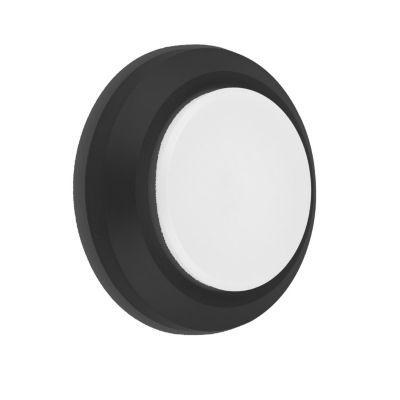 Aplique LED Circular Negro 3w Luz Cálida