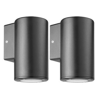 Aplique LED Single Cilindro Negro