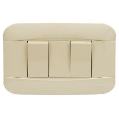 Interruptor Doble 10A Marfil