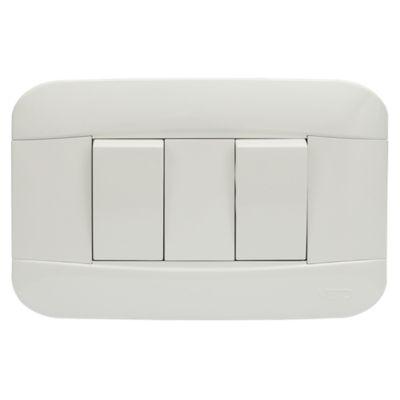 Interruptor Simple Doble 10A Blanco