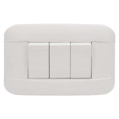 Interruptor Simple Triple 10A Blanco