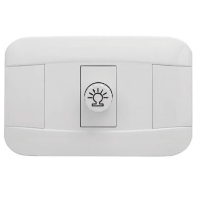 Placa Dimmer Simple Blanco