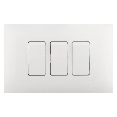 Interruptor Triple Blanco