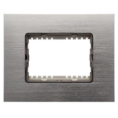 Placa Decorativa Plura Aluminio Oscuro