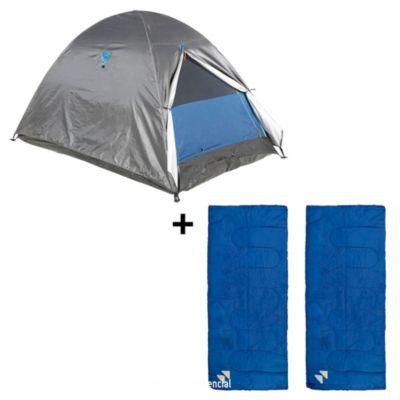 Combo Carpa Iglú para 2 personas + 2 Bolsas de dormir Basic180x75cm