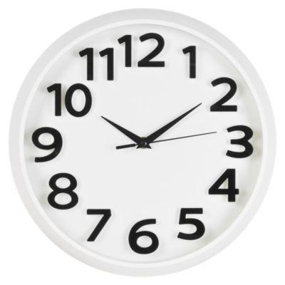 Reloj Solid 33x33cm Blanco