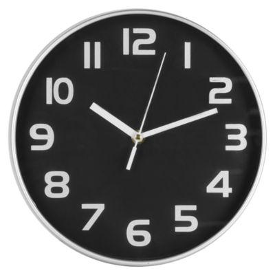 Reloj Total 25x25cm Negro