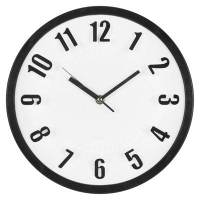 Reloj Número 3D 28cm Negro