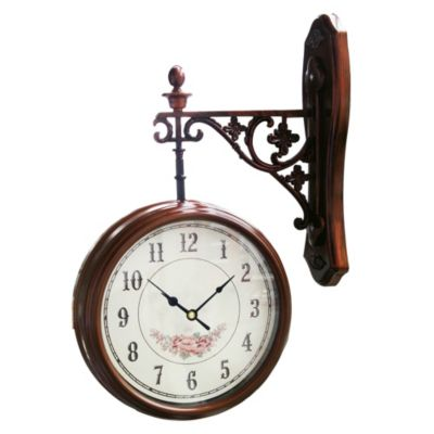 Reloj Colgante 20x20cm Café