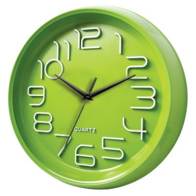 Reloj Look 33x33cm Verde
