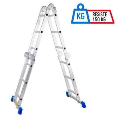Escalera Articulada 12 Pasos Aluminio