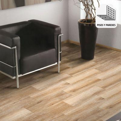 Cerámica Parketon Excellence Marron Maderado 20x61cm para piso o pared
