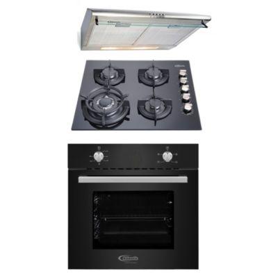 Tricombo Cocina Empotrable Gia X + Horno Empotrable Black Oven X + Campana Extractora CK 601 IX-A