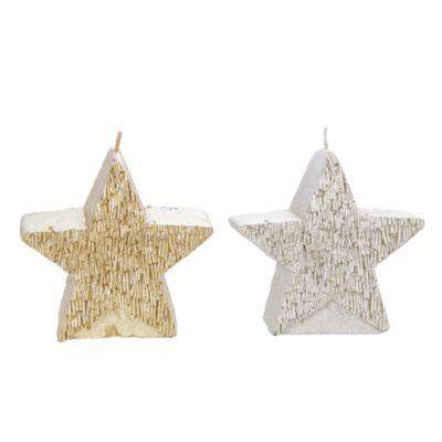 Vela Estrella Dorado 10x10x14.5cm
