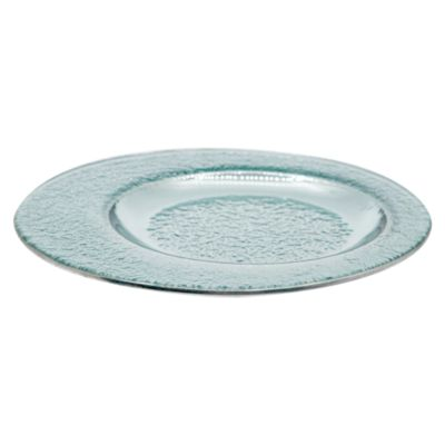 Plato Excéntrico Vidrio Blanco Transparente 20cm