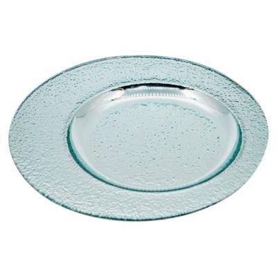 Plato Excéntrico Vidrio Blanco Transparente 25cm