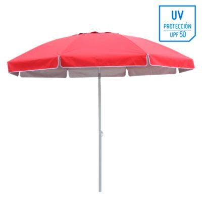 Quitasol Playa 2,5M UV+50  Rojo