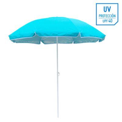 Sombrilla de playa 40UV 1.8m Turquesa