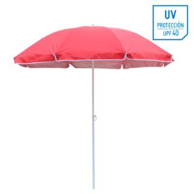 Quitasol Playa 1,8M UV+40 Rojo