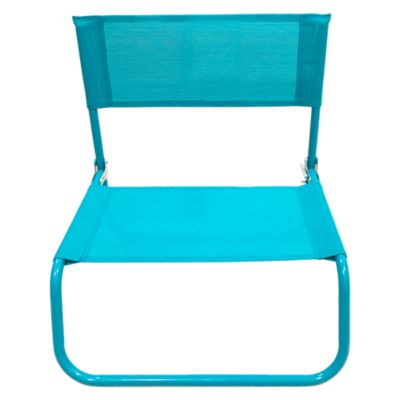 Silla Playa Beach Text Aqua