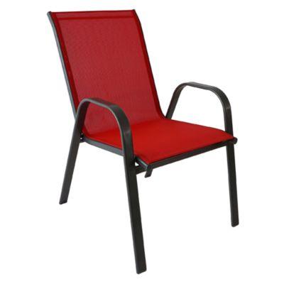 Silla textileno 55,5x73x91 cm rojo