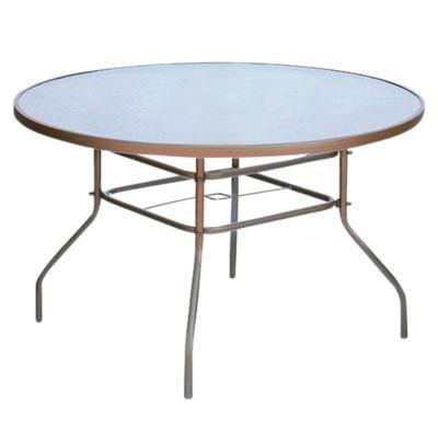 Mesa redonda chocolate 120 cm