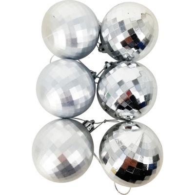 Esfera x12 Unidades Plata Diamante 6cm