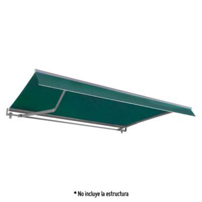Tela Toldo Retráctil 3.95x2.5m Verde