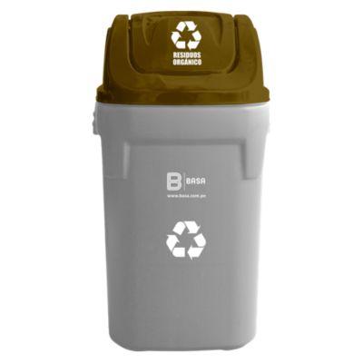 Tapa para residuos orgánicos 40x40cm Marrón