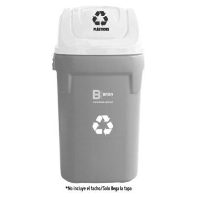 Tapa para residuos de plástico 40x40cm Blanco