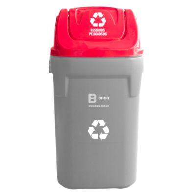 Tapa para residuos peligrosos 40x40cm Rojo
