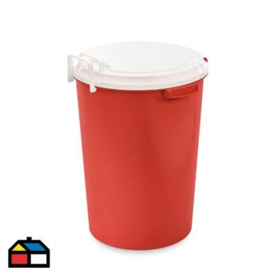 Tacho con Tapa Mecanizada 52 L Rojo