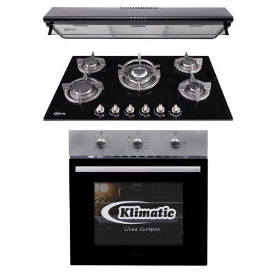 Tricombo Cocina Empotrable Gina X + Horno a Gas Lubeck-BC + Campana Extractora CK 901 NE