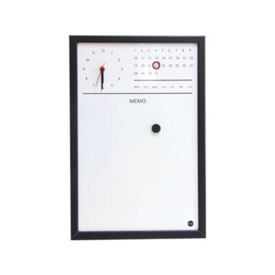 Pizarra Magnética Reloj/Calendario 45X30cm Negro