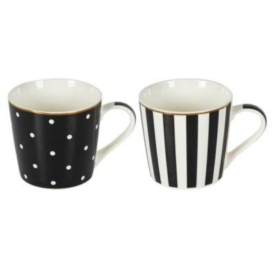 Mug Blanco y Negro Surtido