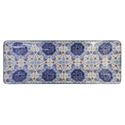 Bandeja Mandala Azul 13x35cm
