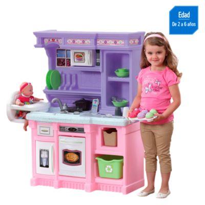 Cocina minichef rosada