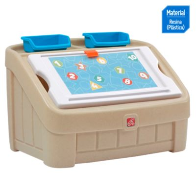 Caja de juguete y arte beige