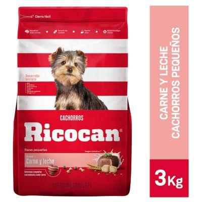 Carne y Leche Cachorros Razas Pequeñas 3kg