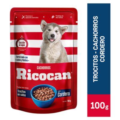 Pouch Trocitos Cordero Cachorros 100gr
