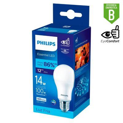 Foco LED Bulbo A65 E27 14W Luz Blanca