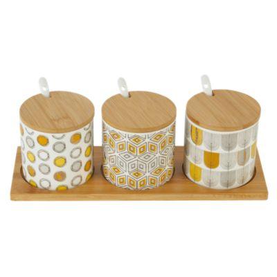 Set Especiero Porcelana Amarillo