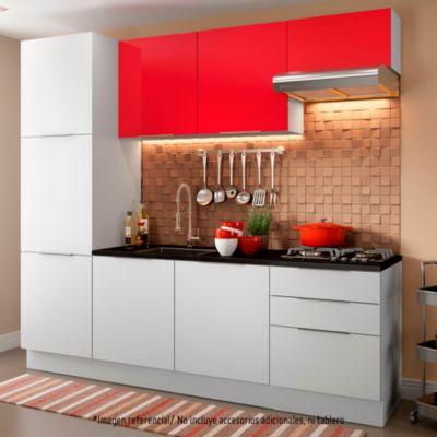Mueble de cocina Modular Stella Rojo 240 cm