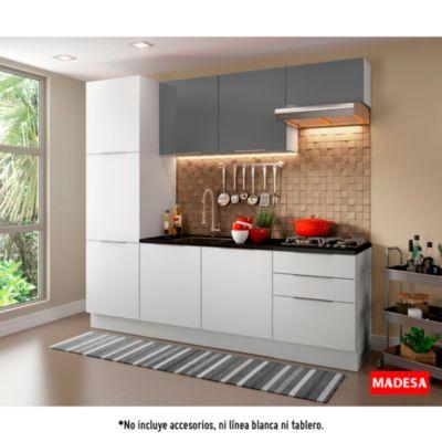 Mueble de cocina Modular Stella Gris 240 cm