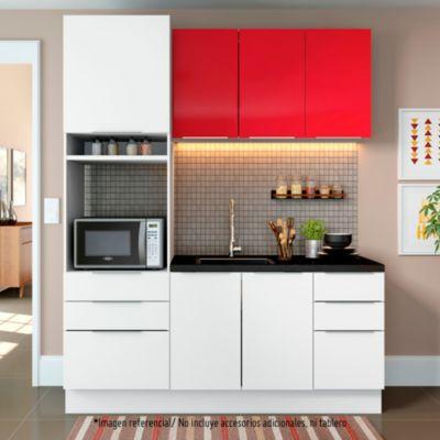 Mueble de cocina Modular Stella 180 cm Rojo