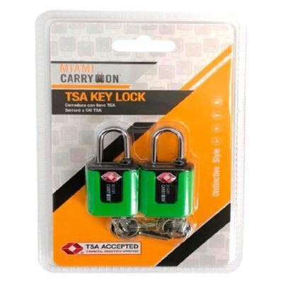 Cerradura con Llave TSA Verde